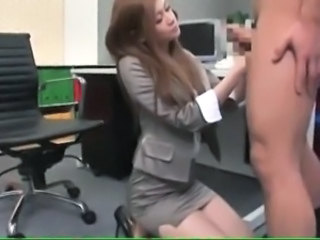 Amazing Asian Handjob  Office Secretary