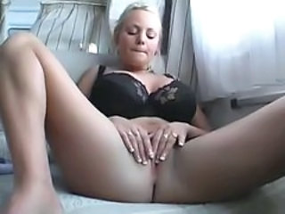Amateur Blonde Car European German Masturbating