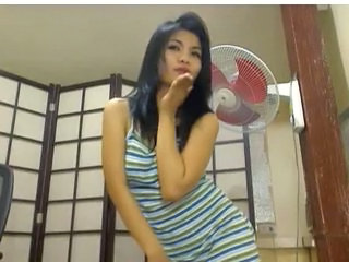 Asian Brunette Cute Dancing  Webcam