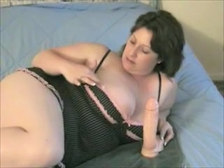 Amateur Big Tits Brunette Chubby Dildo Lingerie Mature Toy Wife