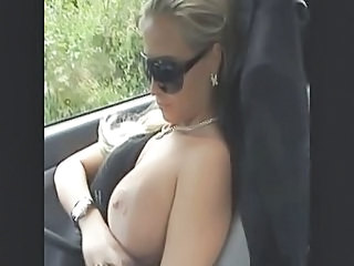 Amateur Big Tits Car European German