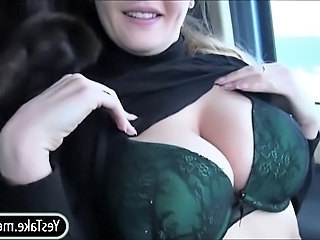 Amateur Big Tits Cash Car Natural Stripper