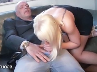 Blowjob Clothed Daddy European German Old and Young