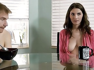 Brunette Cute Mom Natural