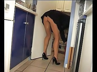 Kitchen Mature Voyeur Wife