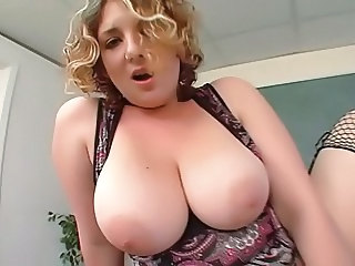 Amazing Big Tits Blonde  Natural Pornstar Teacher