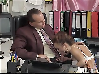 Blowjob European German  Office Secretary