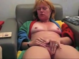 Amateur Homemade Masturbating  Orgasm Redhead Wife