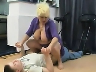 Amateur Big Tits Blonde Clothed Mature Mom Old and Young Riding Russian