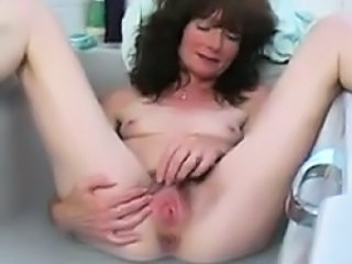 Amateur Bathroom Brunette Hairy Homemade Masturbating Mature Mom Pussy Small Tits