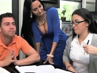 Amazing  Old and Young Student Teacher Threesome