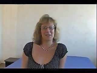 Amateur European French Glasses Mature Mom