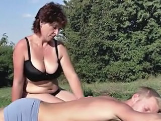Mature Mom Natural Old and Young Outdoor