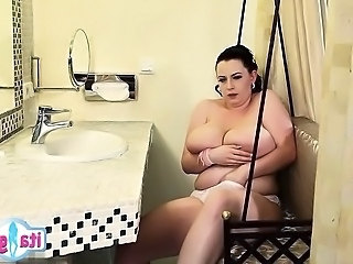 Bathroom Big Tits Chubby