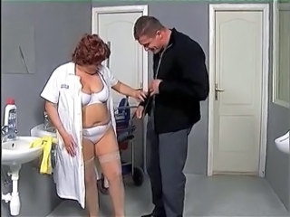 Doctor Lingerie Mature Mom Old and Young Redhead Uniform