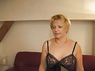 Blonde European French Mature Mom