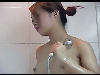 Asian Cute  Showers Small Tits
