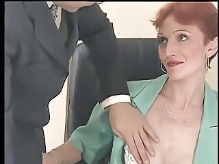 European French Mature Office Redhead Secretary