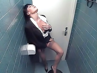 Masturbating  Stockings Toilet