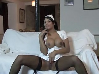 Big Tits  Nurse Silicone Tits Stockings Uniform