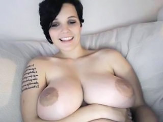 Big Tits Brunette  Nipples Silicone Tits Tattoo Webcam