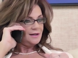 Glasses Mature Mom Secretary