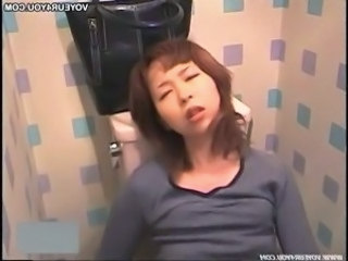 Asian HiddenCam Masturbating  Orgasm Toilet Voyeur