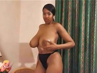 Amazing Big Tits Ebony  Nipples Panty Vintage