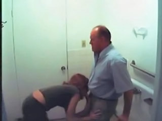 Amateur Blowjob Clothed Daddy  Secretary Toilet