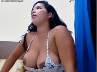 Big Tits Brunette Latina  Nipples Webcam