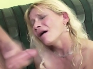 Blonde Cumshot Mature Mom Old and Young