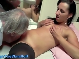 Amateur Daddy Licking  Old and Young
