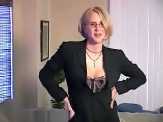 Blonde Cute Glasses  Secretary