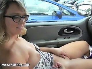 Blonde Car Cute Glasses  Public