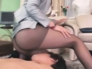 Asian Facesitting  Pantyhose