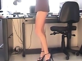 Amateur Legs  Office Secretary