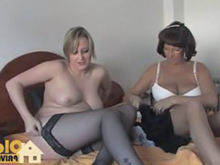 Amateur European German Mature Stockings
