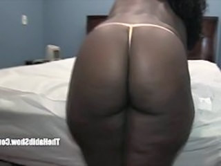 Amateur Ass Chubby Ebony  Panty
