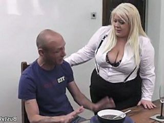 Big Tits Blonde Chubby Mature Secretary