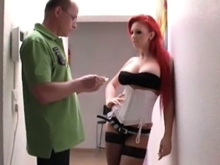 Amazing Corset European German  Redhead Stockings