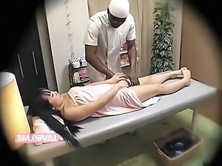 Asian HiddenCam Interracial Japanese Massage  Voyeur