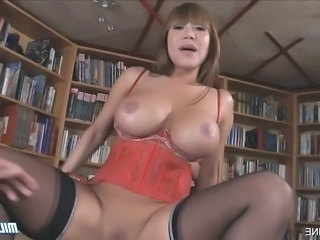 Amazing Asian Big Tits Lingerie  Pornstar Silicone Tits Stockings