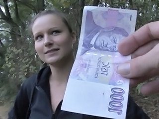 Amateur Cash European  Outdoor Pov