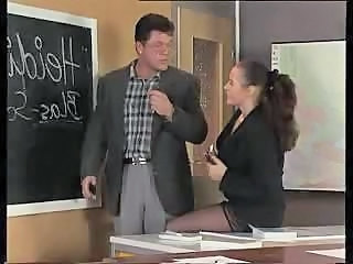 European German  School Stockings Teacher