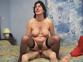 Brunette European French Hairy Mature Riding  Wife