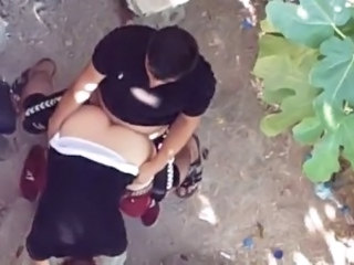 Arab Clothed Doggystyle Girlfriend Outdoor Voyeur