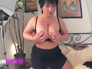 Casting European German Mature Mom Solo Stripper