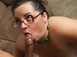 Blowjob Brunette Glasses Interracial