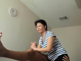Asian Handjob HiddenCam Massage Mature Voyeur
