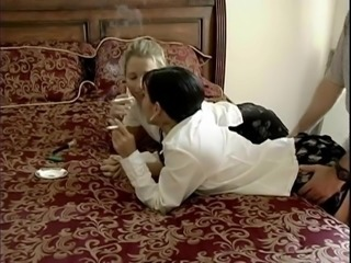 Amateur Clothed Fetish  Smoking Threesome